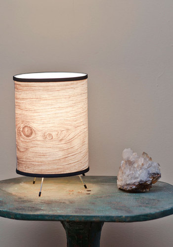 Are You Afraid of the Bark Lamp - Tan, Dorm Decor, Urban, Rustic