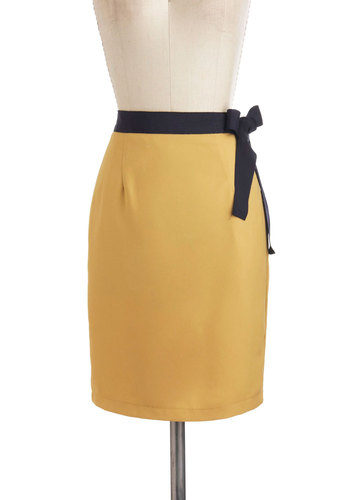 Dijon to Something Skirt - Yellow, Mini, Mid-length, Party, Work, Vintage Inspired