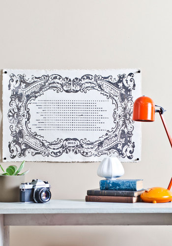 All in Good Timeless Wall Calendar - Silver, French / Victorian