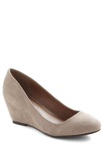 Smooth Transition Wedge - Solid, Wedge, Mid, Tan, Work, Spring, Basic, Best Seller