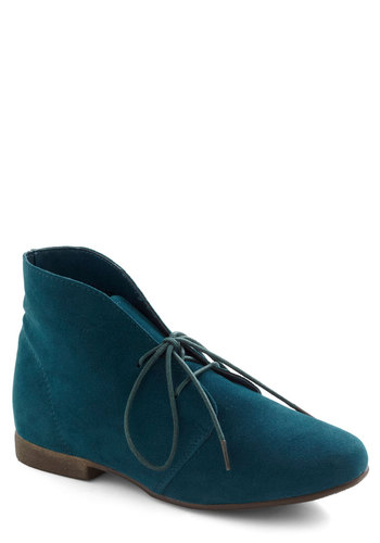 Dashing to Bootie in Deep Teal - Green, Solid, Flat, Menswear Inspired, Rustic, Variation, Winter, Basic, Fall