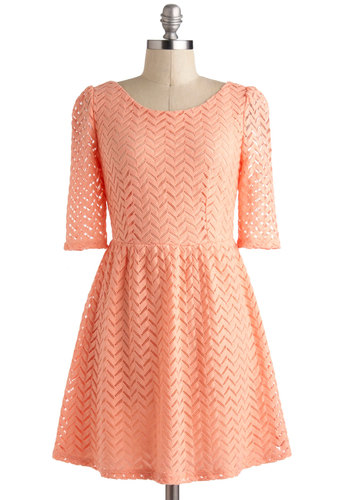 Peach Party Dress