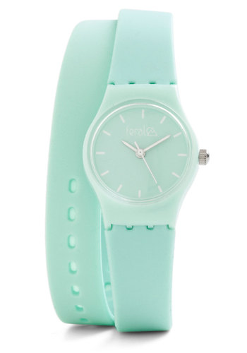 The Time Is Bright Watch - Solid, Pastel, Mint