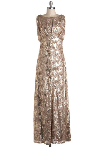 The Sounds of Soul Dress - Gold, Solid, Sequins, Ruching, Special Occasion, Maxi, Sleeveless, Luxe, Statement, Long, Prom, Best, Holiday Party