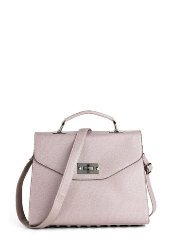 Really Stud Out Bag - Grey, Solid, Studs
