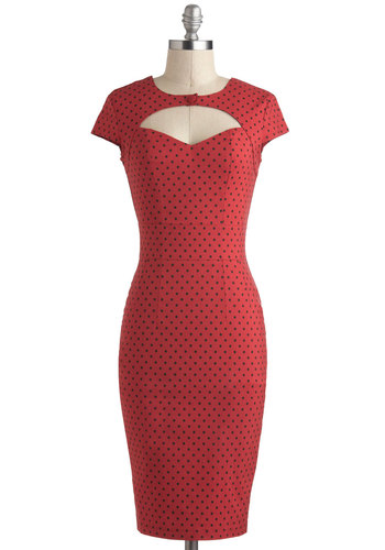 Big Band Singer Dress in Red