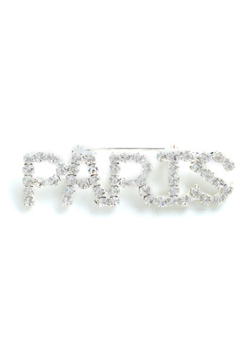May I Have This France? Pin - Silver, Rhinestones, Party, French / Victorian