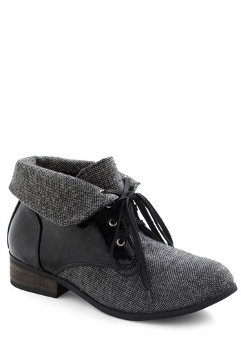 Early Registration Bootie - Grey, Lace Up, Low, Black, Menswear Inspired, Winter, Fall