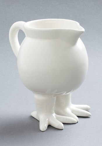 Feeling Pirched Pitcher - White, Quirky, Minimal, Solid
