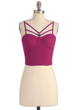 Edge of the Coastline Bustier Top in Magenta