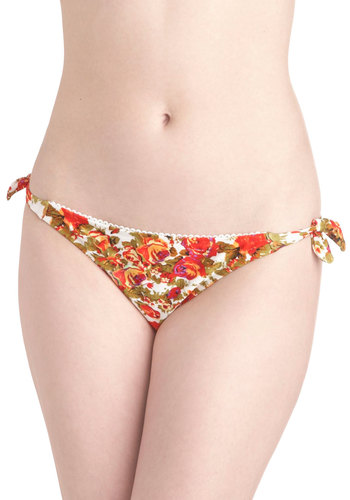 Wade and See Swimsuit Bottom by Mink Pink - Multi, Floral, Summer, Trim, Beach/Resort, International Designer