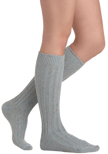 Speck-tacular Vista Socks in Mist - Green, Winter, Multi