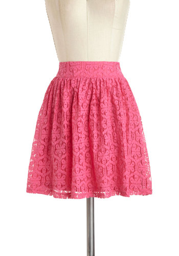 The Thing to Bring Skirt - Short, Pink, Floral, Casual, Daytime Party, Pastel, Beach/Resort