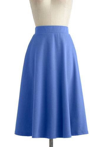 A O-Sway Skirt in Blue Skies
