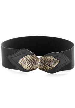Can't Leaf It Be Belt in Black