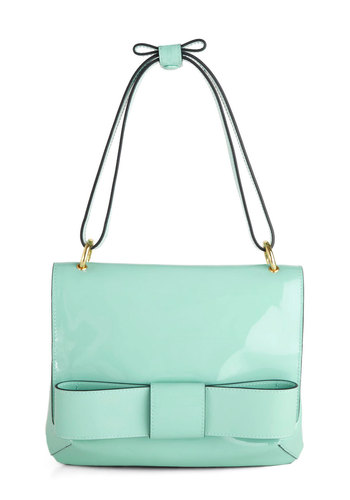 Orla Kiely Winter Daydream Bag by Orla Kiely - Mint, Solid, Bows, International Designer, Luxe, Pastel, Leather