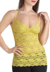 Fetching Femme Camisole in Chartreuse - Green, Solid, Lace, Vintage Inspired, Spaghetti Straps, Sheer, Variation