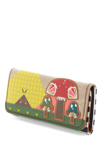 Mushroom of One's Own Wallet - Faux Leather, Multi, Kawaii, Mushrooms, Novelty Print