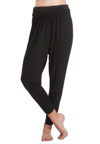 Land a Jodhpur Leggings - Jersey, Black, Solid, Casual, Minimal, Travel, Black