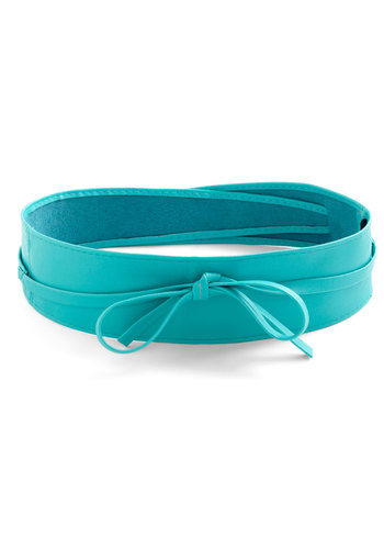 Sash Samba Belt in Teal - Blue, Solid, Bows, Variation