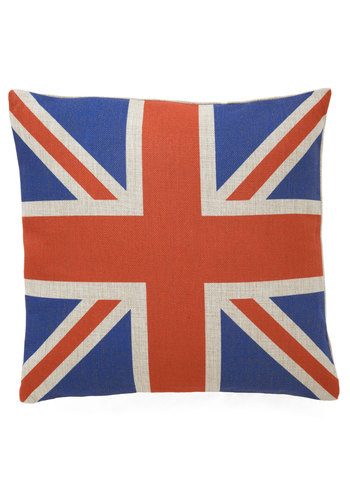Everything's Gonna Be UK Pillow - Blue, Red, Dorm Decor, Vintage Inspired, Statement