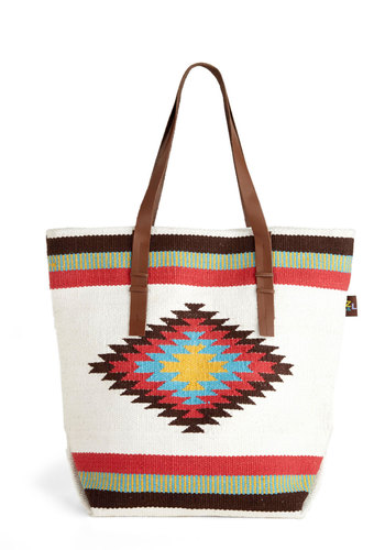 That's Totes Awesome - White, Multi, Novelty Print, Casual, Boho, Rustic, Travel