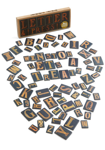 To the Letterpress Magnet Set - Multi, Urban, Vintage Inspired, Good, Top Rated