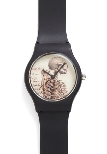 Times Gone By Watch in Anatomy - Black, Solid, Menswear Inspired, Quirky, Steampunk, Work, Halloween