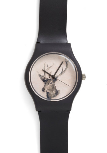 Times Gone By Watch in Fauna - Black, Solid, Print with Animals, Menswear Inspired, Quirky