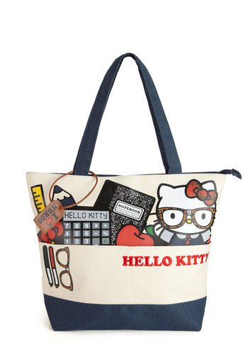 Mew Cool for School Tote by Loungefly - Blue, Multi, Print with Animals, Kawaii, Scholastic/Collegiate, Statement, Travel