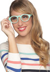 Field of Visionary Glasses - Green, Solid, Summer, Pastel