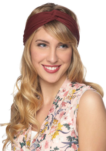 New Hairdo Headband - Purple, Solid, Ruching, Boho, Variation, Travel, Top Rated