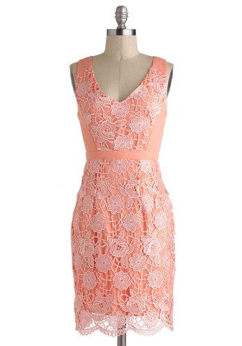Peaches and Gleam Dress