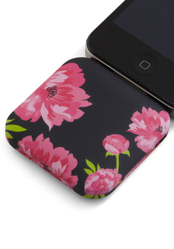 You're in Charge iPhone Battery Pack in Blossoms - Black, Pink, Floral, Green, Travel, Graduation