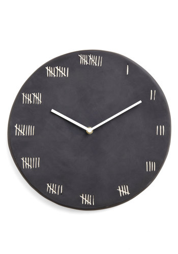 Chalk at Length Clock - Black, Vintage Inspired