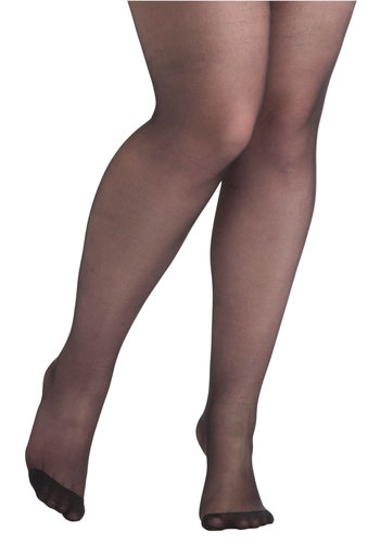 Day to Nightowl Tights in Plus Size by Pretty Polly - Sheer, Black, Solid, Special Occasion, Prom, Party, Work, Cocktail, Girls Night Out, International Designer, Holiday Party