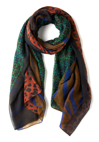 Bit of Good Luxe Scarf - Multi, Animal Print