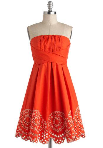 Orange Rush Dress