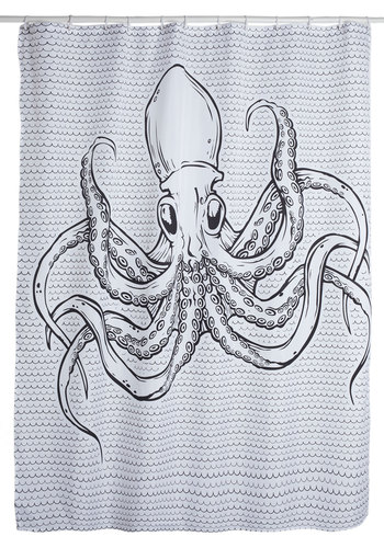Sea Creations Shower Curtain - White, Nautical, Guys