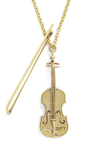 World's Tiniest Violin Necklace by Monserat De Lucca - Tis the Season Sale