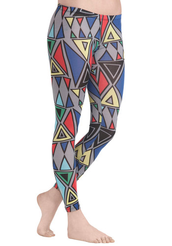 Take Shape Leggings - Cotton, Multi, Print, Casual, Vintage Inspired, 80s, Skinny