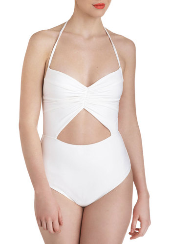 Swan and Only One Piece - White, Solid, Cutout, Beach/Resort, Summer