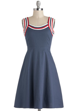 Red Haute American Summer Dress