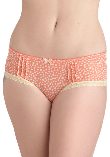 Dessert First Undies - Orange, Yellow, Polka Dots, Bows, Lace, White, Sheer