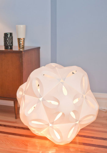 Just The Swirls Lamp - White, 70s, Urban, Mod, Minimal