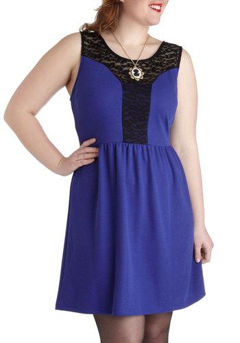 Sapphire Sensation Dress in Plus Size