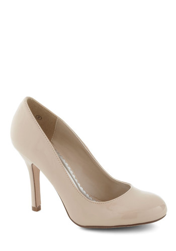 Smart Packer Heel - High, Solid, Wedding, Work, Cream, Pinup, Casual, Girls Night Out