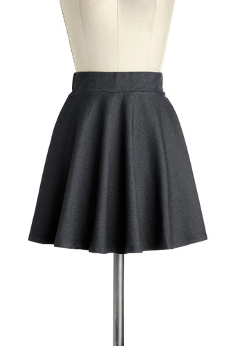 Hangout and About Skirt in Night - Short, Black, Solid, Party, Girls Night Out, A-line, Variation