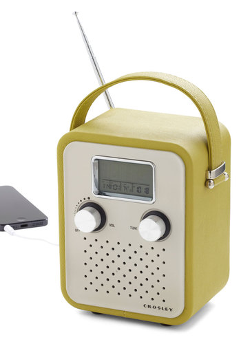 Trail Remix Radio - Green, Vintage Inspired, Mod, Music, Beach/Resort, Travel, Mid-Century, Better