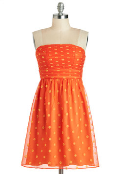 Mango and Mandarin Dress